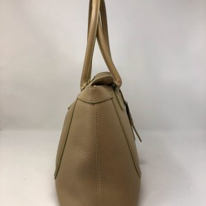 TOD'S Beige leather Buckle Large quintabay quinta do lago shop almancil clothing second hand luxury items